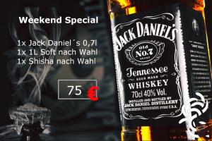 Meduisa Shisha Lounge Jack Daniels Aktion